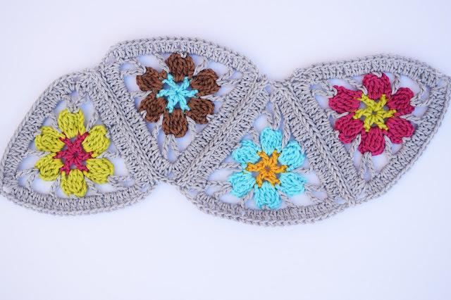 1 - Crochet Imagen Puntada de triangulos flores a crochet y ganchillo por Majovel Crochet