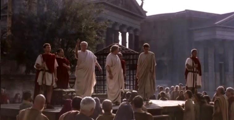 Ejercicio de derecho en la antigua roma y justicia