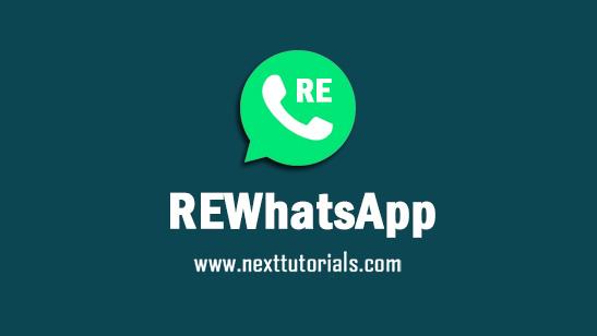 REWhatsApp v8.95 Apk Mod Latest Version Android,Install Aplikasi RE WhatsApp Versi Terbaru 2021,tema re wa anti banned,download wa mod terbaik 2021