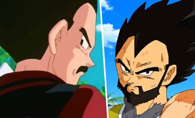 Vegeta is shown with a mustache and a beard and there are already fans in love