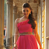 Kajal agarwal hot in pink dress