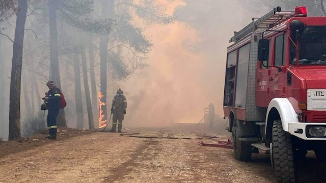 Η σημερινή εικόνα σύμφωνα με την Πυροσβεστική από τις φωτιές σε Αττική, Βόρεια Εύβοια, Ηλεία, Μεσσηνία, Ανατολική Μάνη