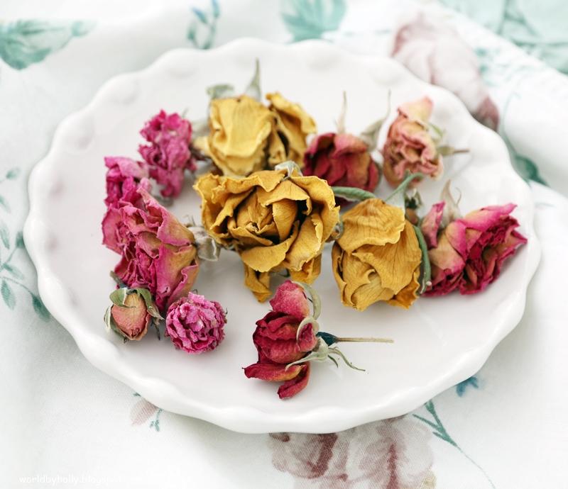 suszone róże , potpourri, naturalne kosmetyki
