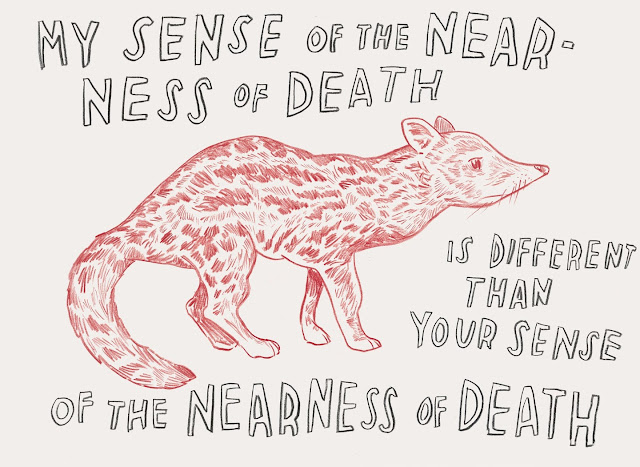 Dave Eggers: My sense of the nearness of death - is different from your sense of the nearness of death