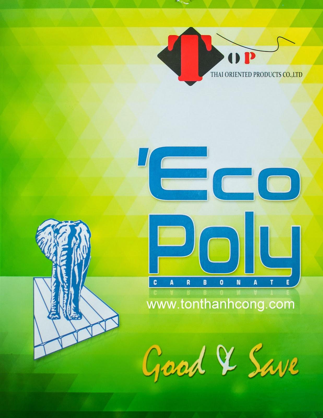 Catalogue Tấm Lấy Sáng Polycarbonate Rỗng Ruột EcoPoly - Trang 1