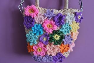 Kwiatowy koszyk DIY przeróbka torebki koszyka koszyk torebka z kwiatami