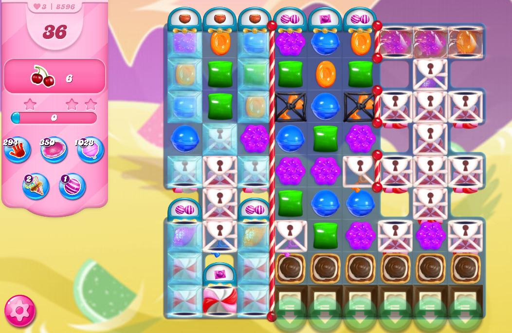 Candy Crush Saga level 8596