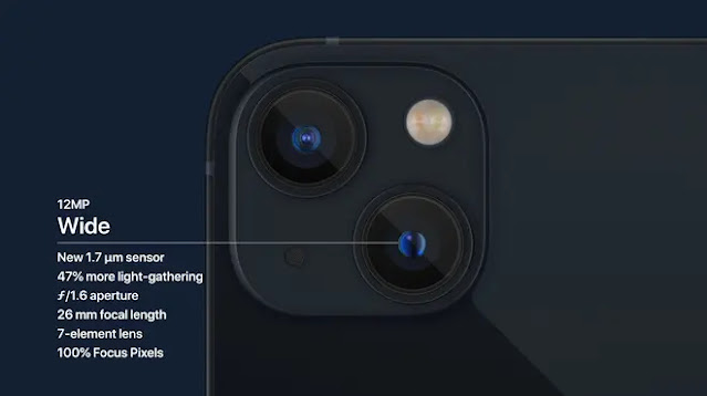iPhone 13 and 13 mini have a new camera design