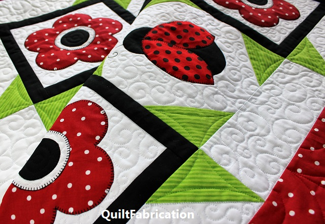 Ladybug Dance quilting by QuiltFabrication