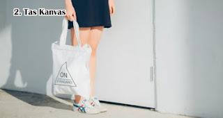 Tas Kanvas bisa menjadi pengganti kantong plastik