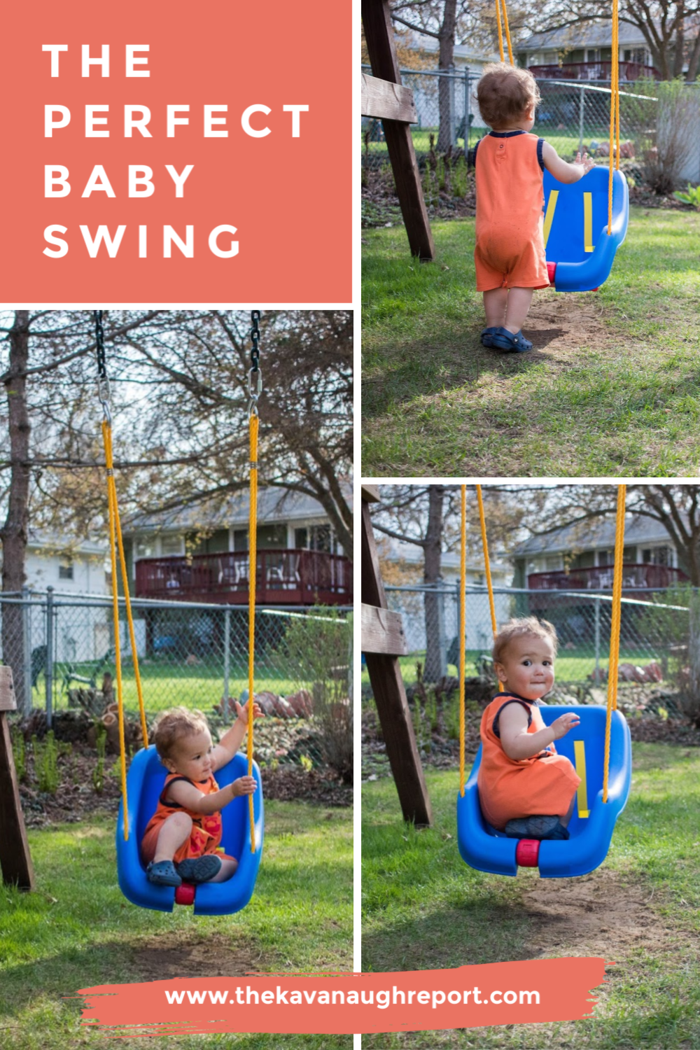 Add a low accessible swing for toddlers in your Montessori outdoor space for the perfect, easy toddler activity tho promote movement and independence.