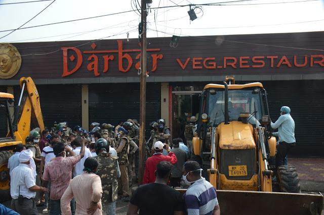 Avaidh hotal todi,  जबलपुर अवैध होटल तोड़ी