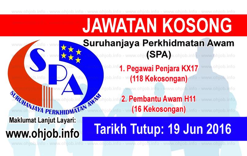 Jawatan Kerja Kosong Suruhanjaya Perkhidmatan Awam Malaysia (SPA) logo www.ohjob.info jun 2016