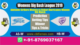 WBBL 2019 HB-W vs AS-W 9th Today Match Prediction Womens Big Bash League 2019