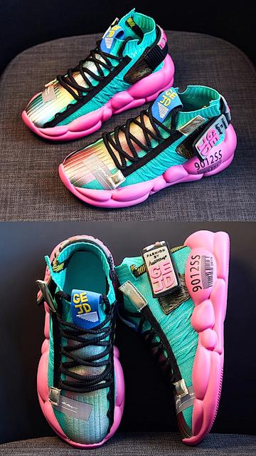 Fujin Women Vulcanized Shoes Breathable Sneaker