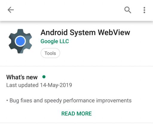 تعطيل Android System Webview