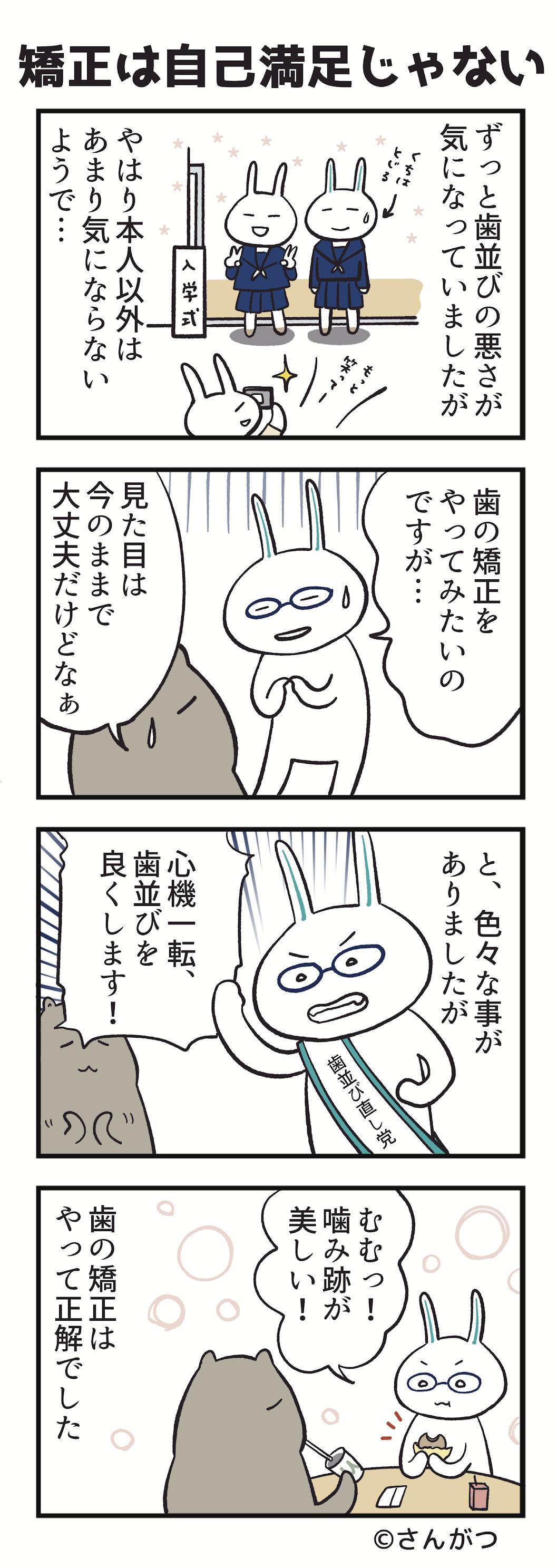 歯科矯正の漫画4「矯正は自己満足?編」