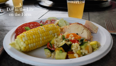 dinner plate with cider