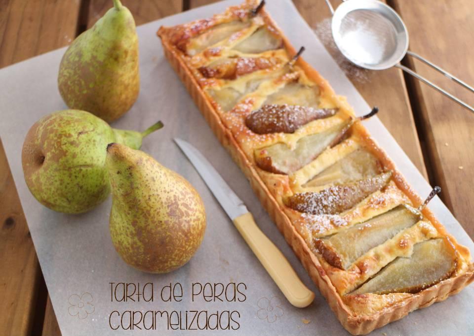 tarta-de-peras, caramelized-pear-tart