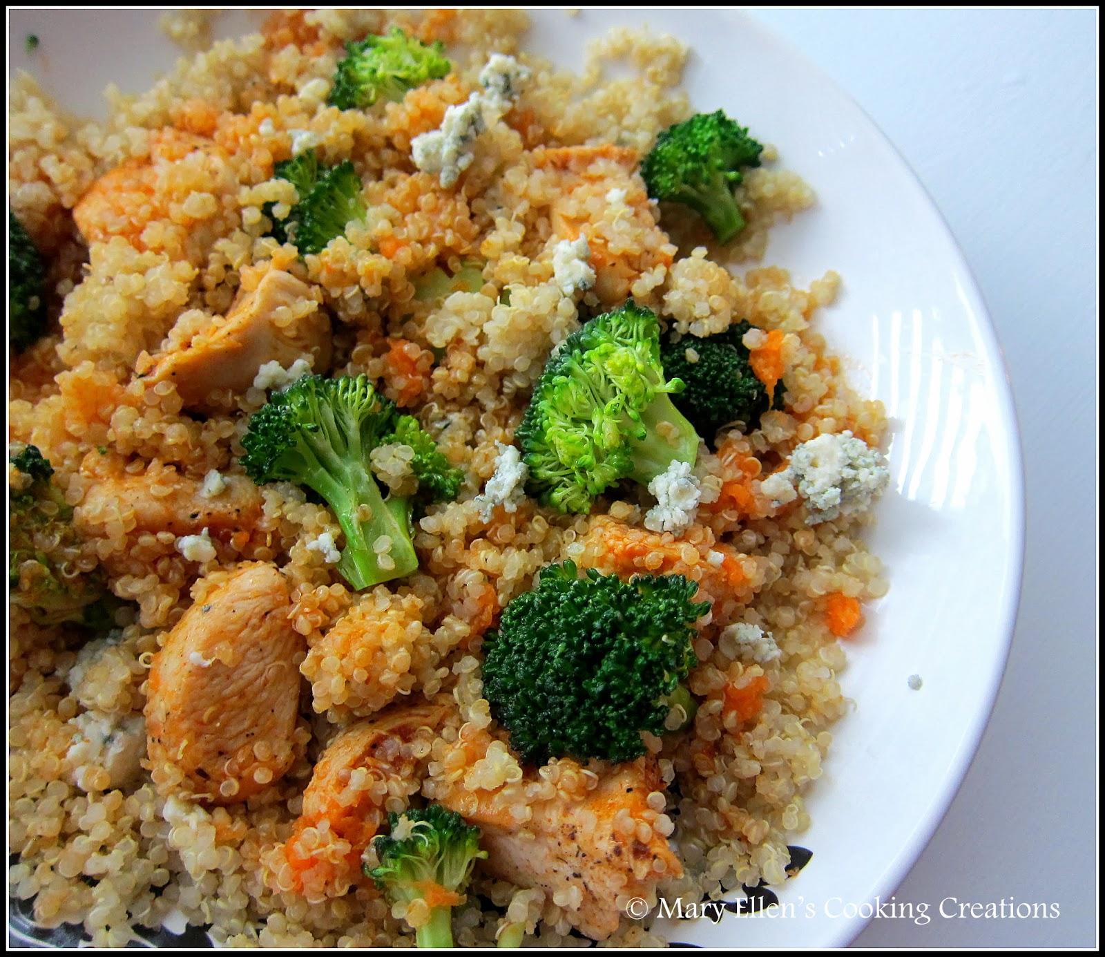 Mary Ellen's Cooking Creations: Buffalo Chicken Quinoa Salad
