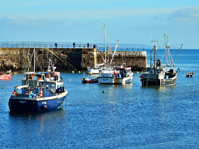 Outer harbour at Mevagissey, Cornwall