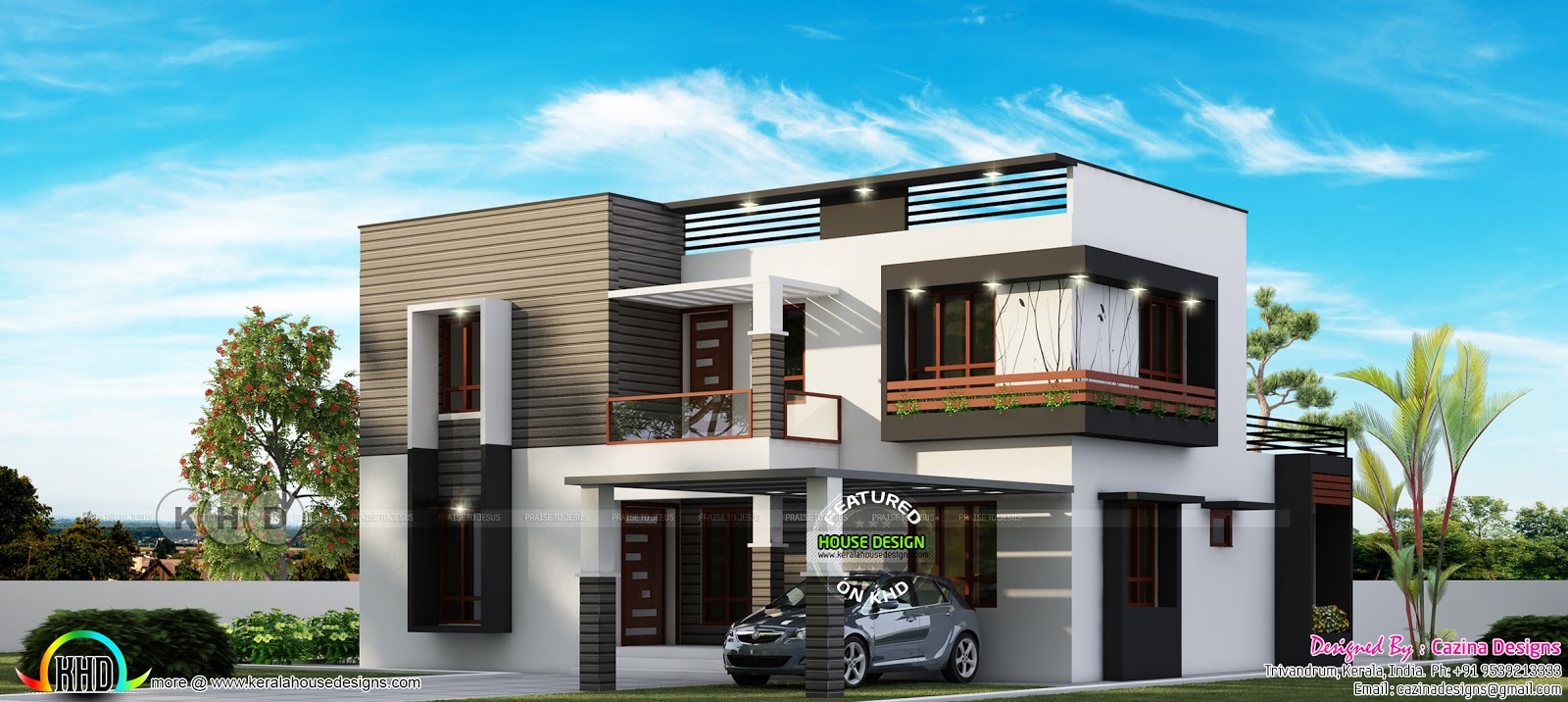 4 Bedroom Modern Flat Roof House 2600 Sq Ft Kerala Home