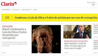 Imprensa internacional repercute condenação do elemento Lula vulgo Barba