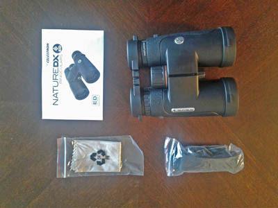 Photo of binocular and accessories