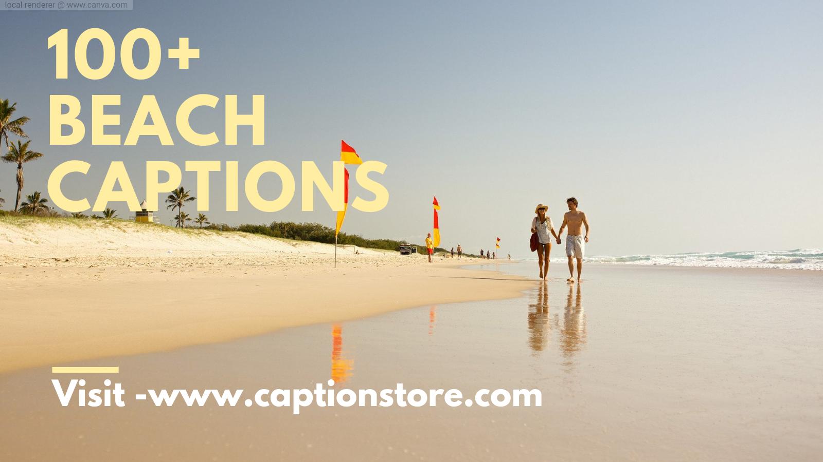 beach captions