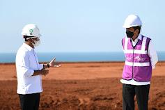 Presiden Jokowi Tinjau Kesiapan Kawasan Industri Batang, Jateng