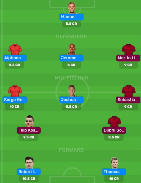 BAY vs FRK MyTeam11 and Dream11 Team