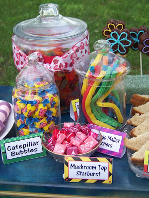 Wonderland Birthday Dessert Table with Table Card Printables. Celebrate with us and this fun Alice in Wonderland Birthday party.  With all the DIYs, printables, decorations, favors, and fun, you can recreate any part of this birthday party and go down the rabbit hole to Wonderland anytime.