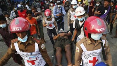 18 Orang Pendemo Antikudeta Tewas, Myanmar Makin Mencekam