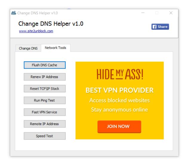 Change DNS Helper