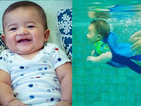 Usianya Baru 7 Bulan, Arsya Hermansyah Sudah Pandai Berenang Tanpa Ban, Ternyata Ini Alasannya