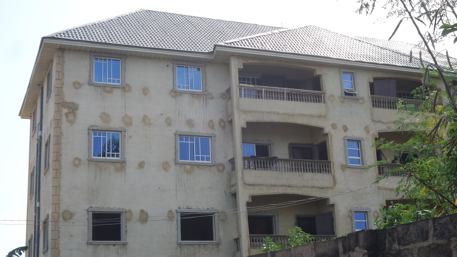 Pictures from our 8 flats house finish works in enugu