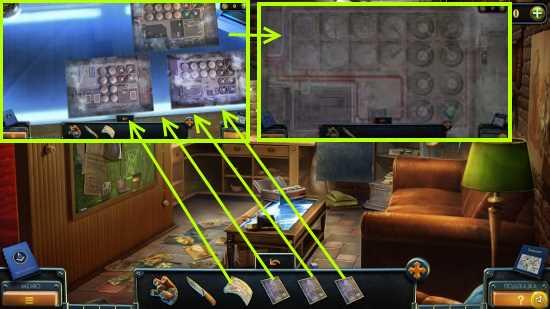 кладем фото и накладываем план эвакуации в игре загадки нью - йорка пробуждение