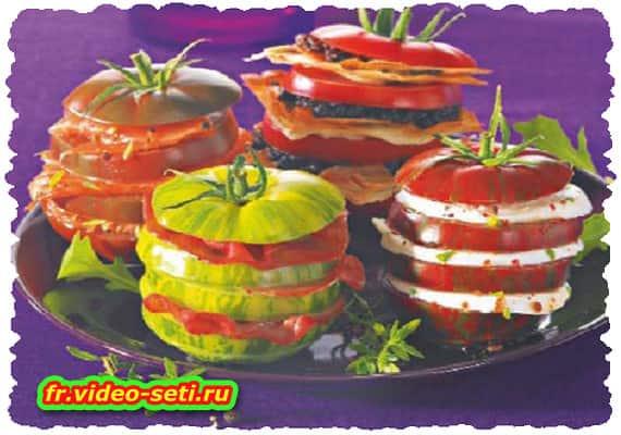 Mille-feuille de tomate