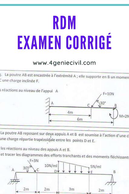 Examen rdm corrigé en pdf