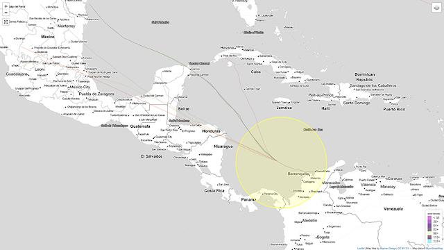 Zona de baja presión cerca de Centroamérica aumenta potencial de desarrollo ciclónico
