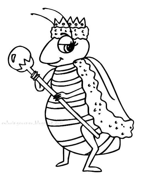 honey bee coloring pages - photo #18