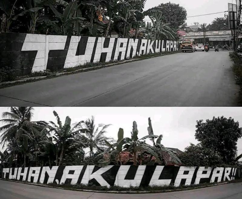 """Viral Aksi Vandalisme """"TUHAN, AKU LAPAR!!"""" di Tangerang, Polisi: Itu Hanya Penyaluran Seni"""