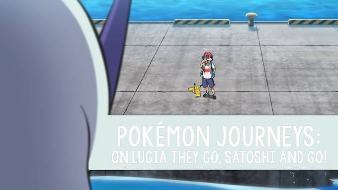 Pokémon Journeys, composición visual: On Lugia They Go, Satoshi and Go!