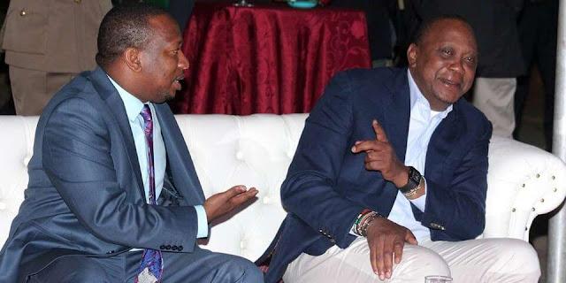 President Uhuru Kenyatta and Mike Sonko photo. FILE