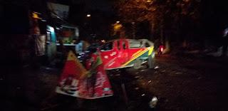 Angkot Terbalik di Medan