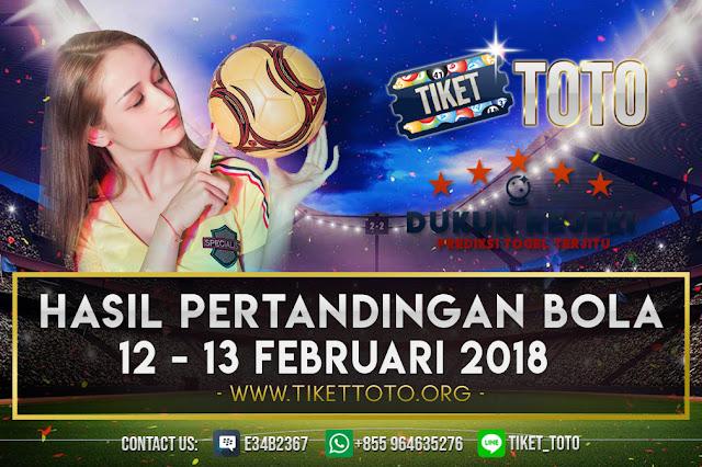 HASIL PERTANDINGAN BOLA 12 – 13 FEBRUARI 2019