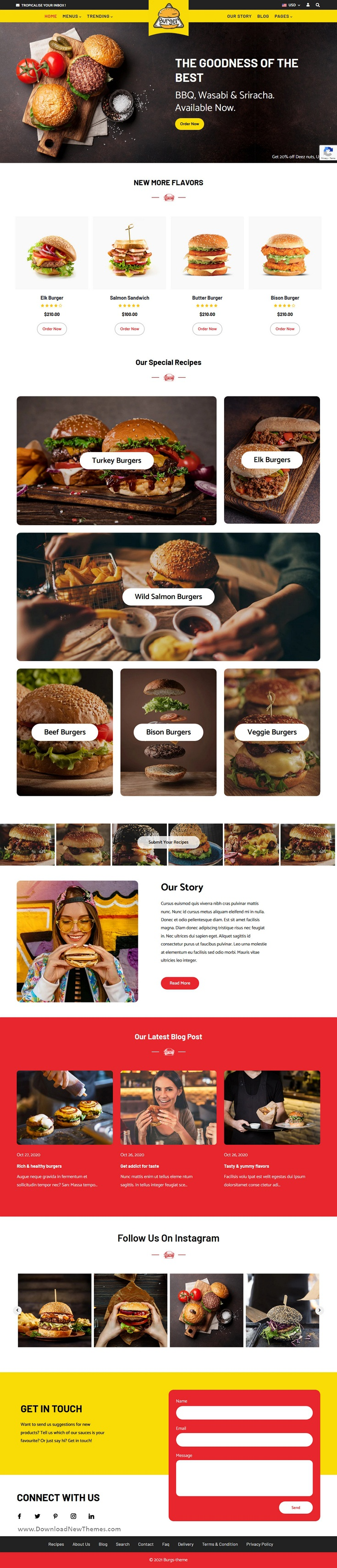 Food Delivery and Restaurant Shopify Theme