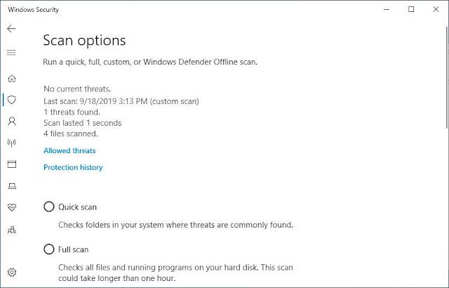 dilengkapi dengan jadwal antivirus bawaan gratis berjulukan Windows Defender yang menawarka Cara Menggunakan Windows Defender untuk Scan Malware