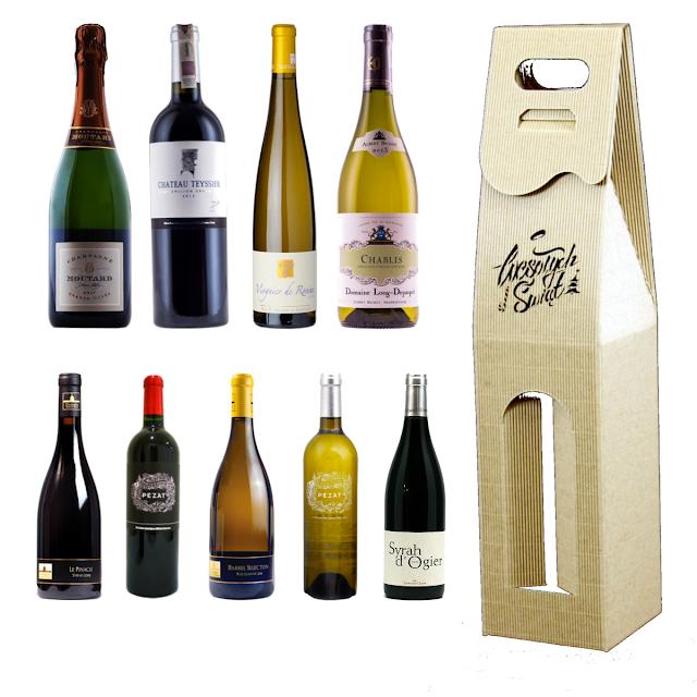 Karton na wino francuskie