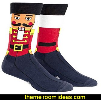 Sock It To Me Men's Holiday Crew Socks - Nutcracker